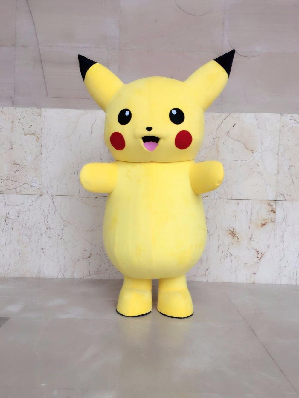 Nouveau Costume de mascotte pokemon pikachu de luxe de qualité supérieure Costume de personnage de bande dessinée Costume de mascotte Costume de fantaisie Costume de fête