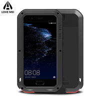 Love Mei Armor Shockproof Waterproof Case For Huawei P10 P10 Plus Cover Powerful Metal Aluminum Case For Huawei P10/P10Plus Case