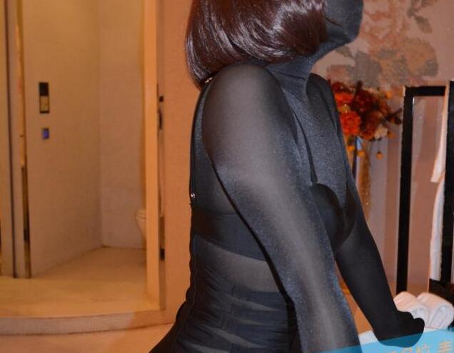 MW804 Luxury Customize Super Transparent Shiny Silk Bodysuit Sheer Zentai Suit Nylon zentai Fetish Wear