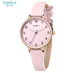 PANMILA Простые Модные женские часы Hodinky женские кварцевые часы водостойкий PU ремешок повседневные часы женские часы-браслет P0166