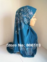 1927 wholesale one piece solid color Mix colors muslim hijab hot drill fashion islamic hijab Bling Bling style Hijabs