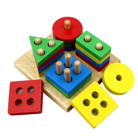 Wynlzq Learning Education Wooden Colors Shapes Toys For