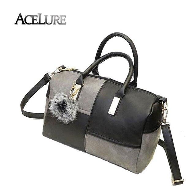 Женщины искусственная кожа сумки на ремне новый женский лоскутная сумки горячей продажи дамы crossbody сумки повседневная подушка сумки мешок основной