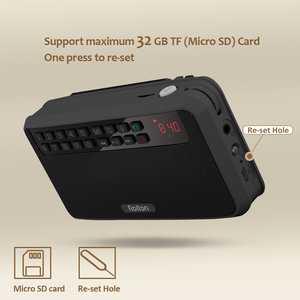 Image 3 - Rolton E500 Tragbare Stereo Bluetooth Lautsprecher FM Radio Bass Dual Lautsprecher TF Karte USB Musik Player (Schwarz)