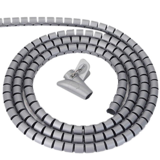Cable de almacenamiento Clips de tubo organizador de manga de Cable de envoltura de tubo Protector Flexible dispositivo de gestión en espiral