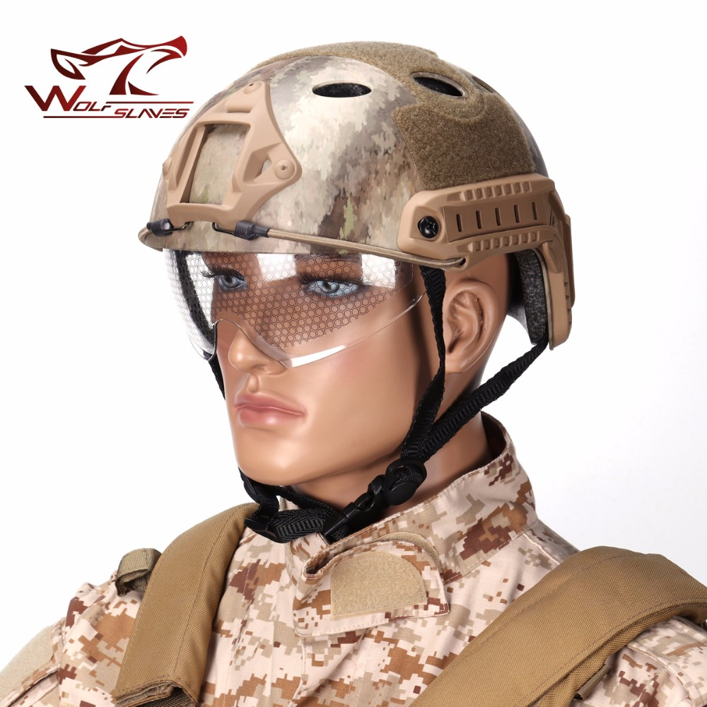 Hot! Emerson FAST Cycing Capacete PJ Type AND with Protective Goggle helmets Military Airsoft helmet free shipping emerson fast helmet with protective goggle bj type helmet military airsoft helmet tactical army helmet free shipping