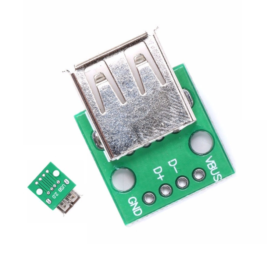 5 pcs USB2.0 Female to 4P DIP Switch DIP Adapter Board Module USB Adapter Plate freeshipping htqfp qfn48 to 0 5 mm dip48 qfn44 qfp48 qfp44 pqfp lqfp adapter plate