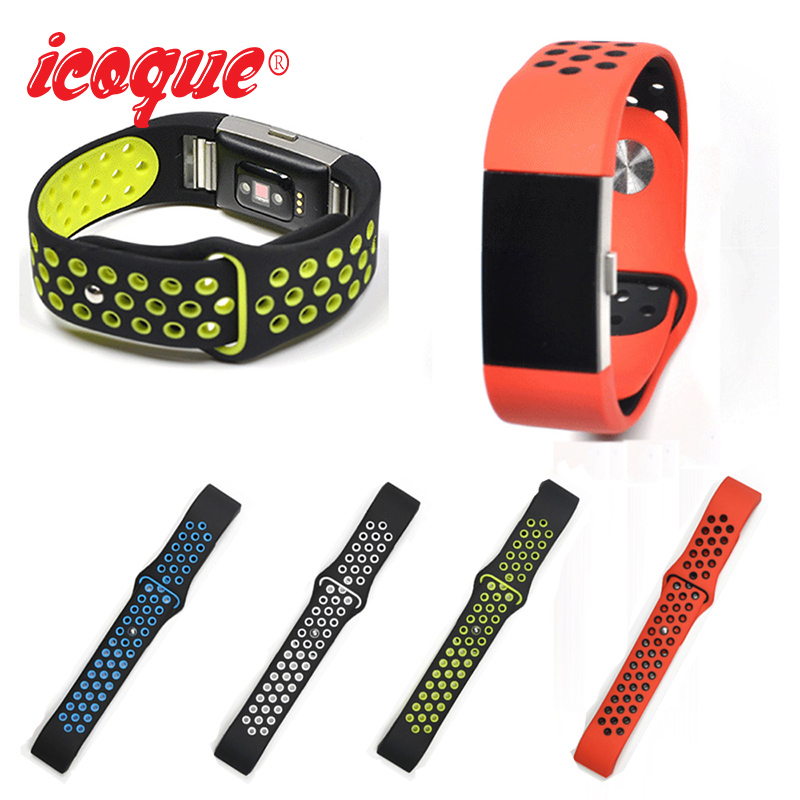 Icoque Sport Strap Band for Fitbit Charge 2 Band Silicone Bracelet Woman Color Replacement Accessories for Fitbit Charge2 Strap
