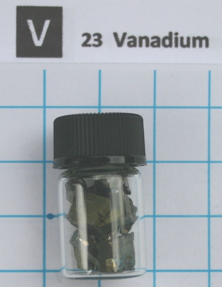 1 gram 99.99% Vanadium Metal in glass vial - Element 23 sample виниловые пластинки patti smith live in germany 1979 180 gram