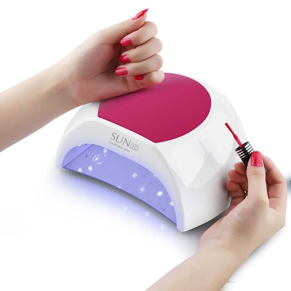 Hot SUN2C 48W LED Lamps Nail Timer For 10/30/60Nail Dryer Professional Nail UV Lamp Rose Silicon Pad For Nail Manicure Tools