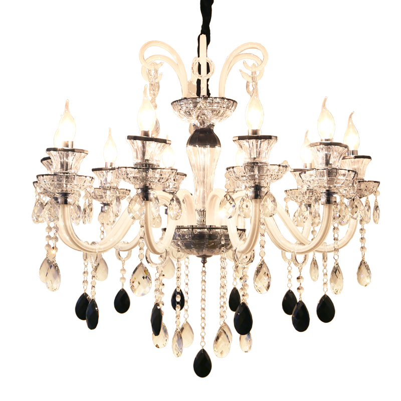 Black And White Crystal Chandeliers Romantic Coffee