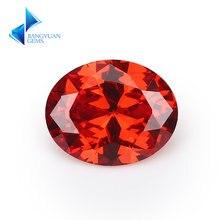Размер 2x3 ~ 13x18 мм овальной формы оранжевый цвет 5a cz камень