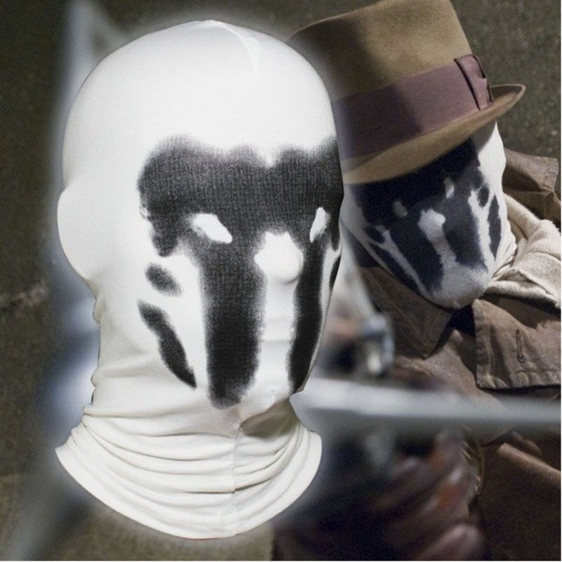Movie Watchmen Cosplay Rorschach Walter Kovacs Masks Headgear Printing Full Face Mask Halloween Cosplay Accessories Props