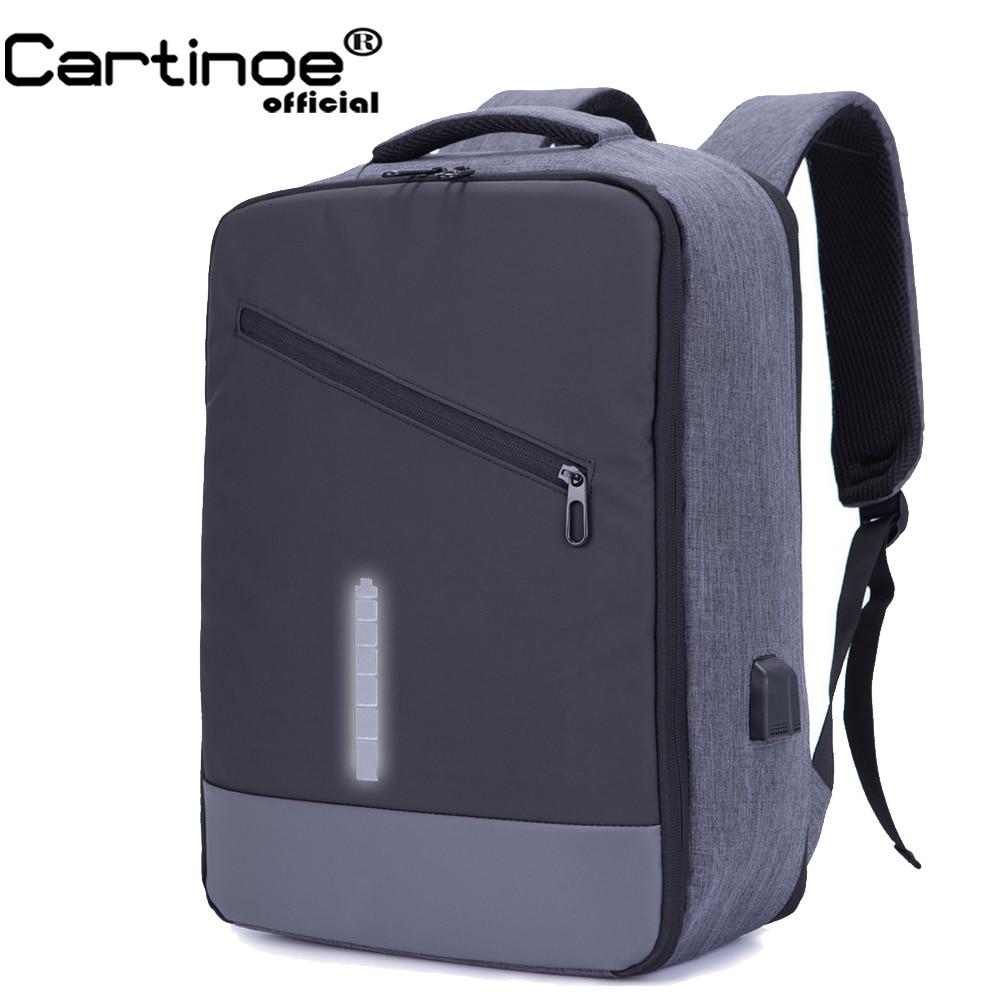 Cartinoe Business Backpack USB Charging Anti Theft Backpack Travel 15 15.6  inch Laptop Pack Waterproof School Bag Male Mochila 56e3ca3f80945