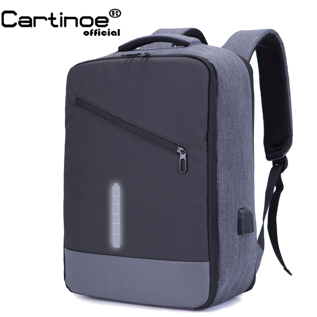 Cartinoe Business Backpack USB Charging Anti Theft Backpack Travel 15 15.6 inch Laptop Pack Waterproof School Bag Male Mochila