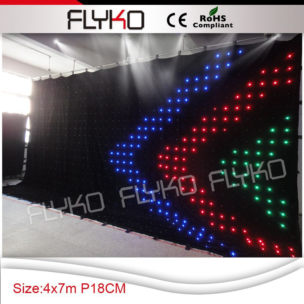 Chrismas led curtain led stage background free shipping p18 4x7m