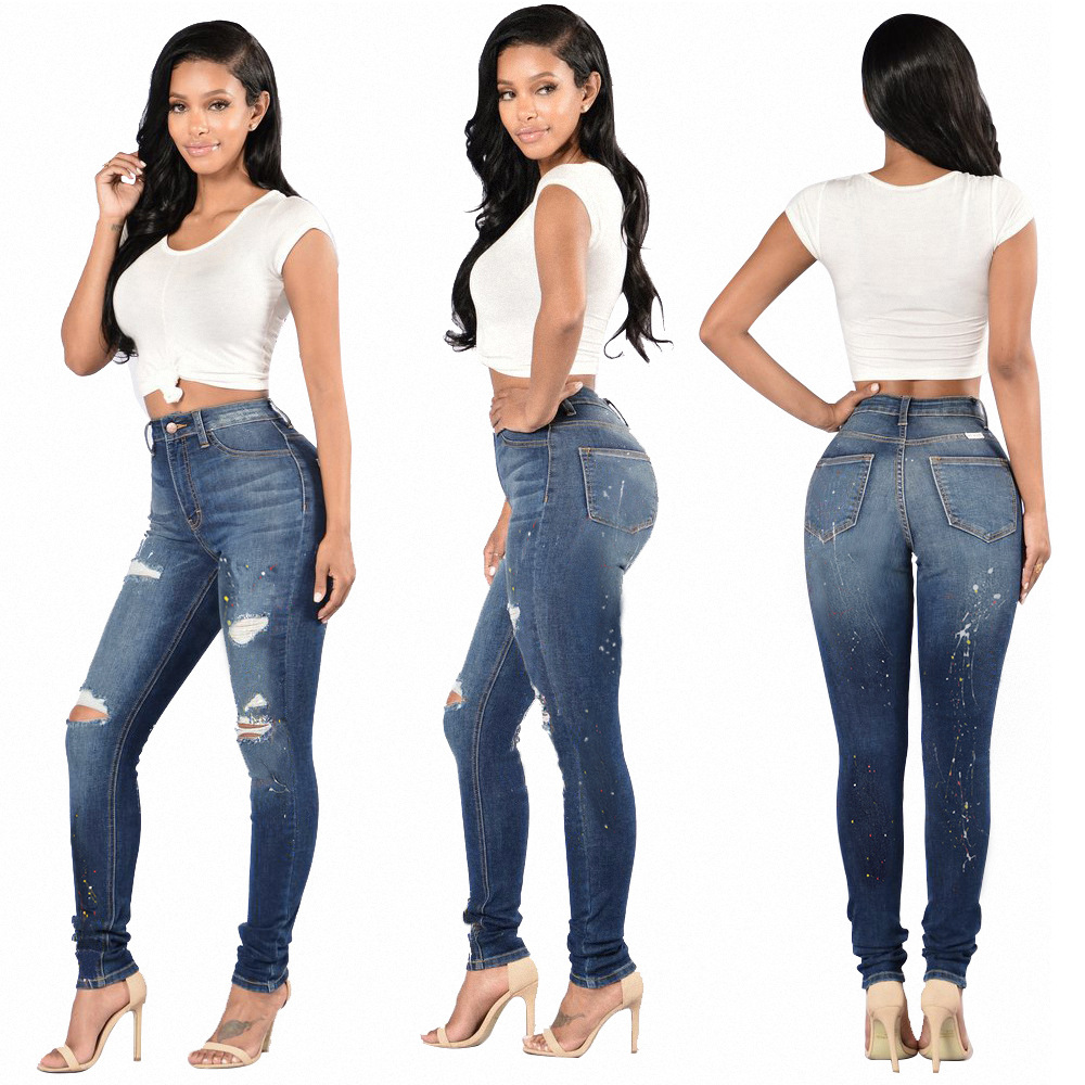 Super elastic jeans trousers