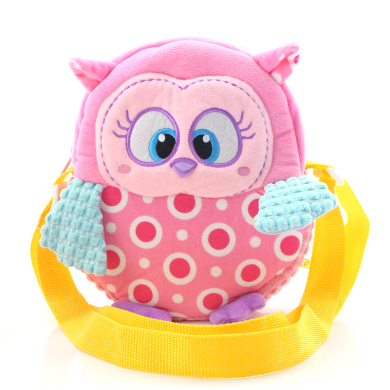 Cute plush baby shoulder bag owl toys children cartoon fashion storage bag diagonal bag