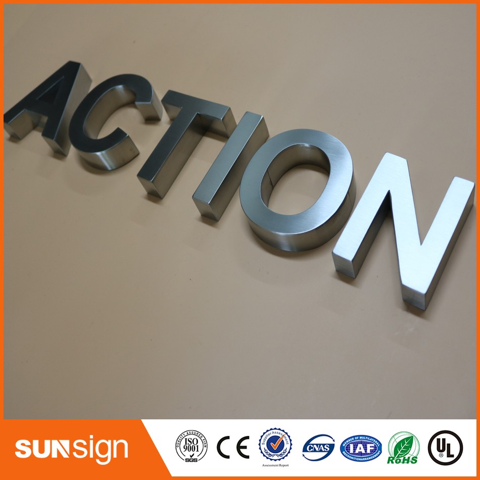 Aliexpress Sign Manufacturer 3d Stainless Steel Letters