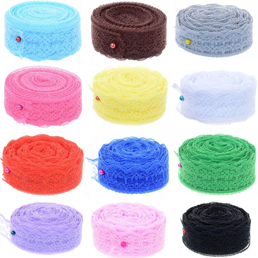 Натуральная кружевная лента рулон для «сделай сам» вышитая ткань Свадебная вечеринка Отделка Ткань для шитья Свадебные украшения Аксессуары 10 ярдов