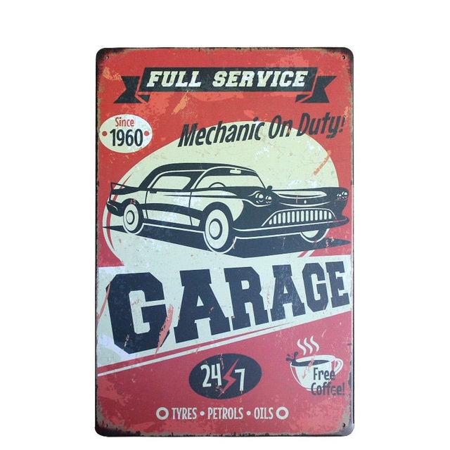 US $6.65 |Retro Frankreich Auto Chic Home Bar Vintage Blechschilder Garage  Decor Shabby Chic Blechschild Pub Dekorative Platten Metall Wandkunst A788  ...