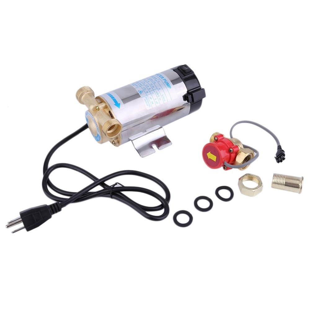 Chauffe-eau à gaz solaire entièrement automatique domestique pompe de surpression 90 W auto-amorçage Circulation de l'eau pour le chauffage de la douche