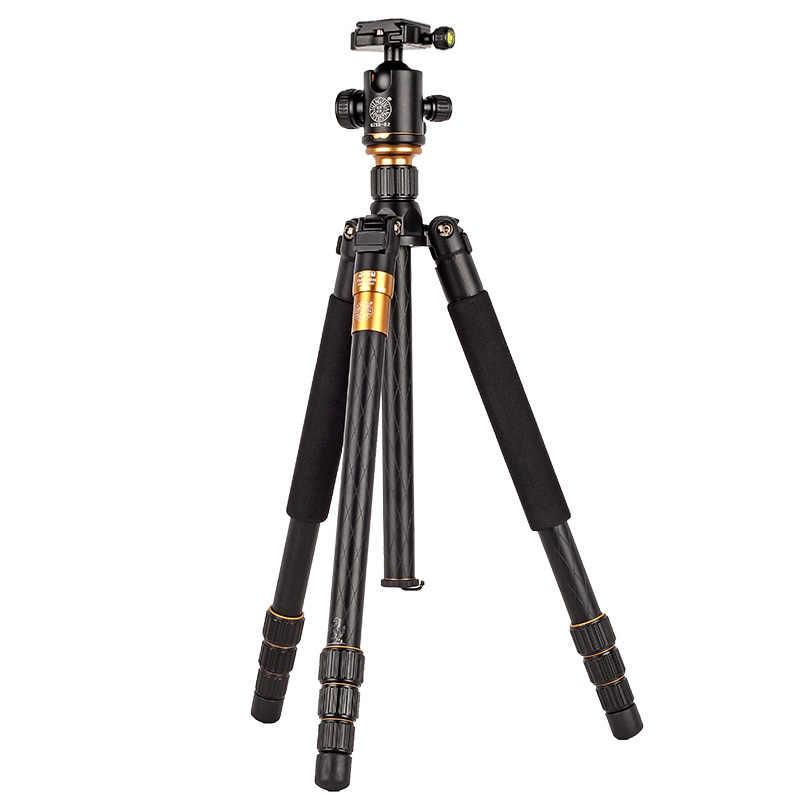 Hot Q999 Fotografi Profesional Tripod Portabel untuk Monopod + Kepala Bola untuk Digital SLR DSLR Kamera Lipat 43 Cm Max memuat 15Kg