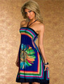 Mulheres Vestido de verão 2016 Casual Strapless Vestido de Praia Floral Bodycon Escritório Vestido Bohimian Vestido Sarafan Vestidos Das Senhoras Vestido de Verão