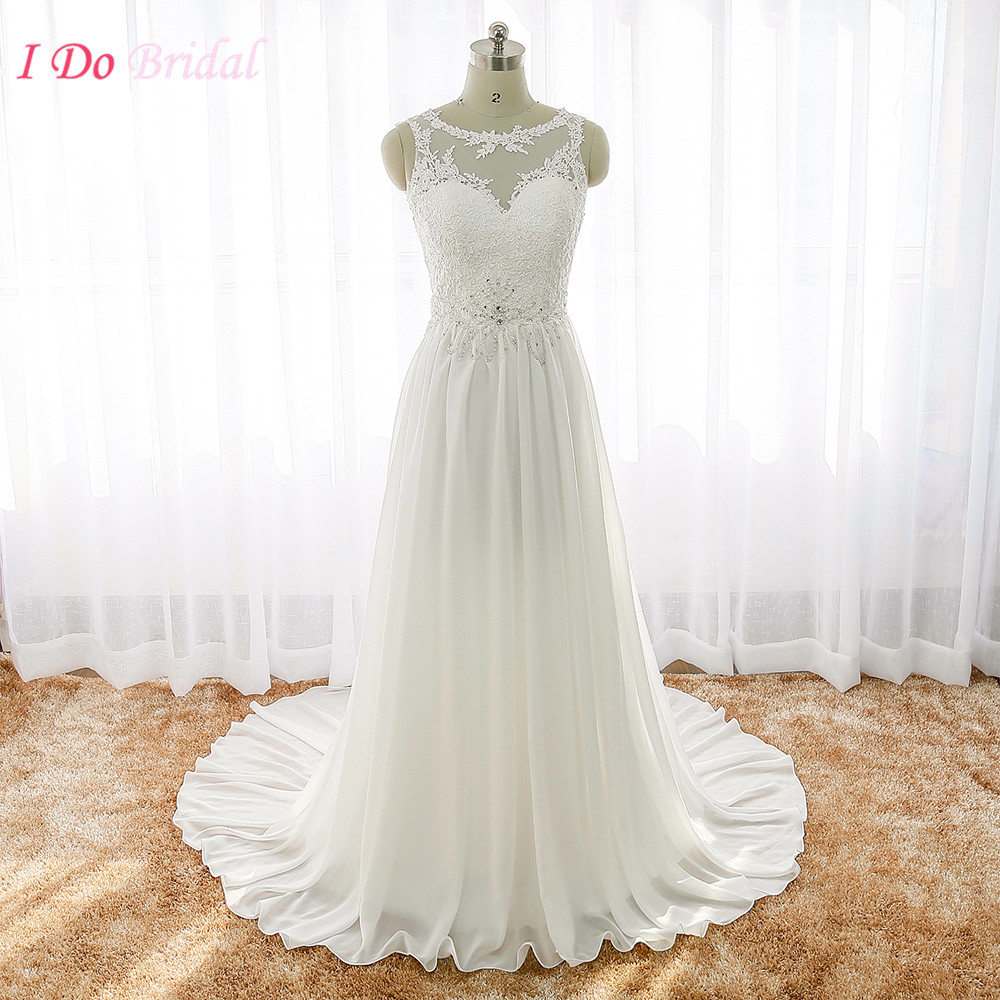 Wedding Gowns Prices In China : Dresses lace summer a line chiffon real photo wedding gowns china