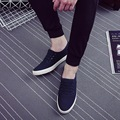 Spring Men Loafers 2016 Men Shoes Round Toe Flats Casual Slip On Comfortable Canvas Shoes 3 Colors Big Size 39-44 SMYDC-D0024