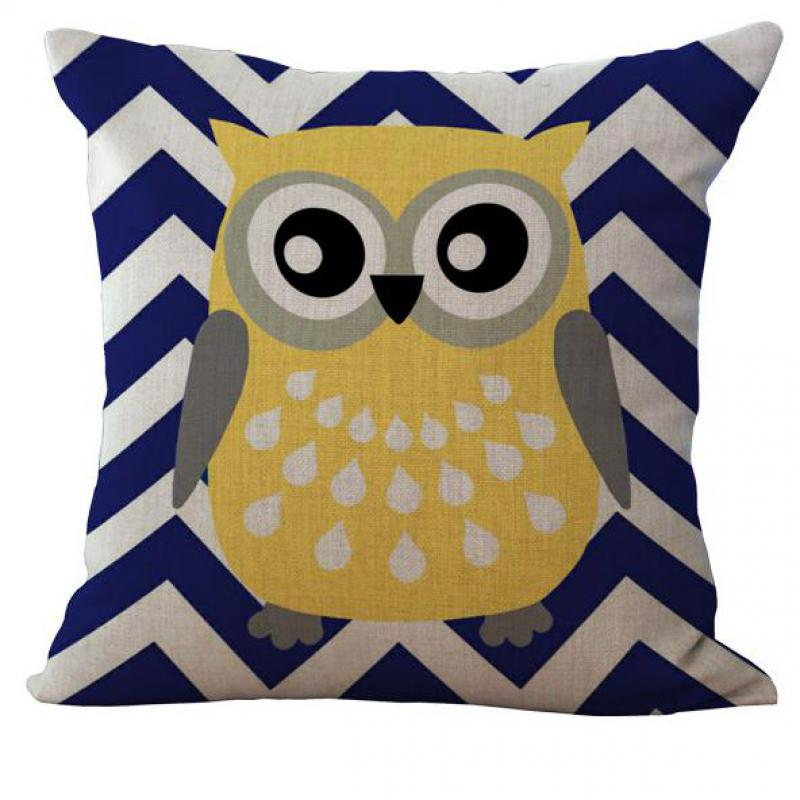 ▻Manufacturer Direct Cute Cartoon Pastoral Owl Eyes Linen Kids Enchanting Decorative Pillow Manufacturers