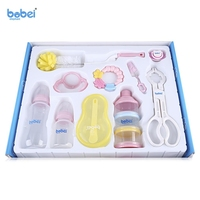 Brand Mum Necessary 10PC Set Baby Feeding Set Infant Milk Bottle Set Environmental Friendly PC Milk
