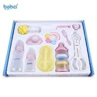Brand Mum Necessary 10PC Set Baby Feeding Set Infant Milk Bottle Set Environmental Friendly PC Milk