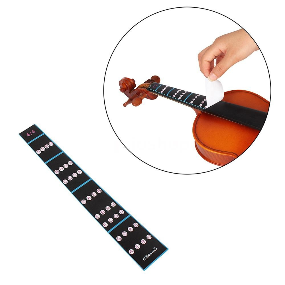 4/4 3/4 1/2 1/4 1/8 Violin Fiddle Finger Guide Fingerboard Sticker Label Intonation Chart Fretboard Marker For Practice Beginner To Enjoy High Reputation At Home And Abroad Musical Instruments