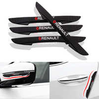 4PCS Car Door Anti-collision Bumper Strip Guards Side Protector Sticker for Renault duster megane 2 logan renault accessories