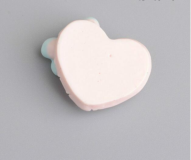 wholesale price Mixed Color Flat Back Clay Cabochon Kawaii heart bow DIY Flatback Decoration:2.0cm*2.1cm