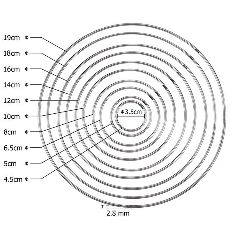 1 pacote/lote grande apanhador de sonhos círculo anel ofício 35-160mm anéis de metal para apanhadores de sonhos aros pendurado conectores diy acessórios