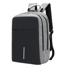 캐주얼 배낭 방수 여행 남성 안티 절도 배낭 USB 남성 노트북 가방 배낭 Mochila 학교 가방
