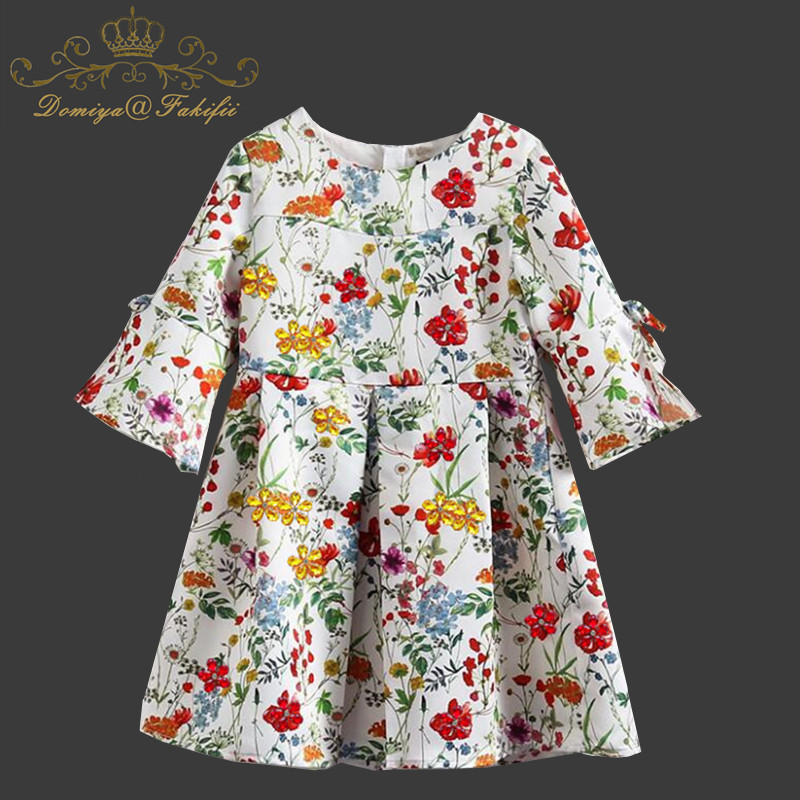 Children Fancy Dress Wedding Teenager Girl Children Party Floral Dresses Princess And Wedding 2018 Carnival Costume Kids Clothes [bosudhsou] als 5 kids girls floral dress baby girl butterfly party dresses children fancy princess a line dress wedding clothes