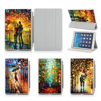 Oil Painting Case For IPad Air 1 2 Cover With Sleep Wake UP Stand Sleeve For