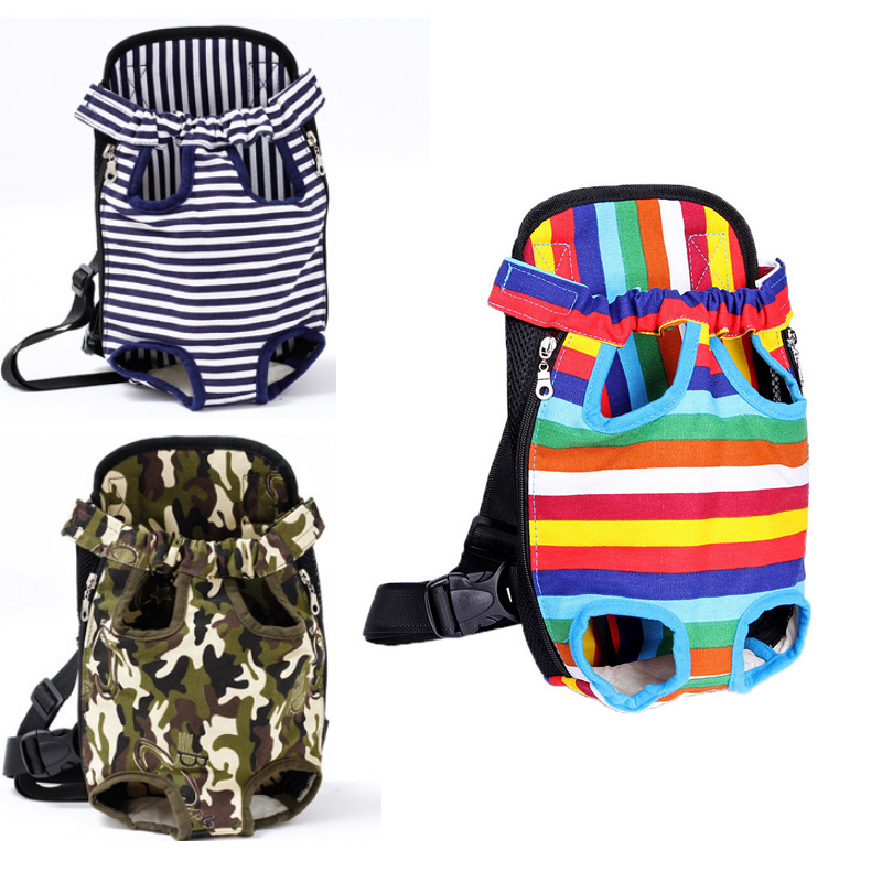 Dog Carrier Backpack Lightweight Mesh Camouflage Colorful Travel Products Breathable Shoulder Bags for Small Dog Cats