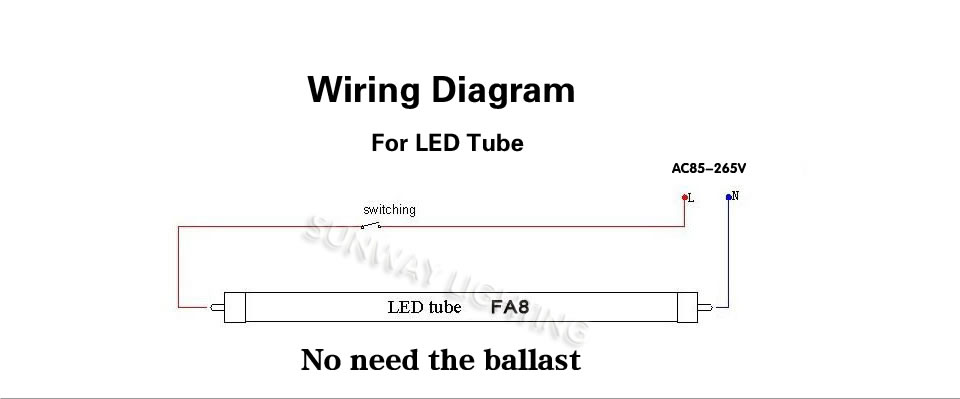 5000k Daylight White 45w 8ft Fa8 Single Pin T8 Led Tube Light Replace Fluorescent Bulbs Smd2835