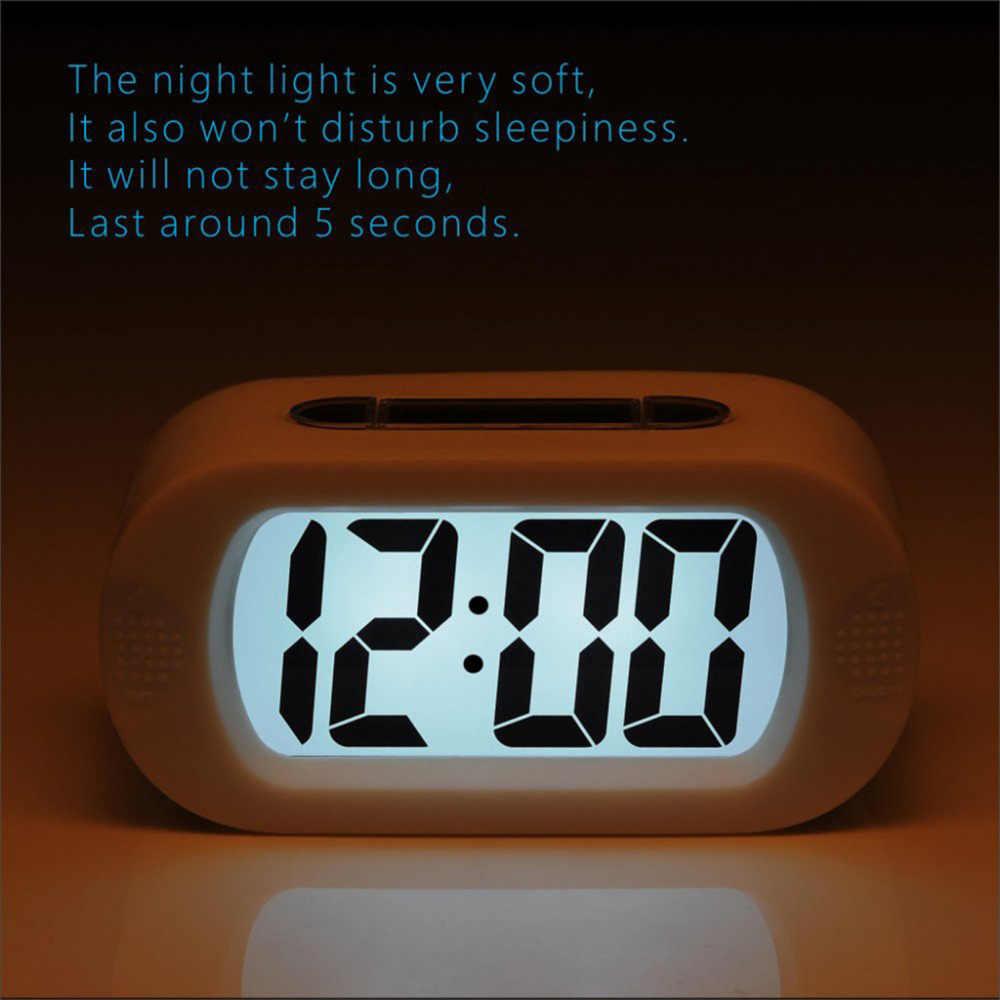 100% Бренд новый Высокое качество цифровой ЖК-дорожный будильник с Повтор хороший ночник звуковой сигнал Прямая доставка