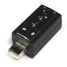 ใหม่ล่าสุดUSB 7.1ช่องอุปกรณ์เสียงการ์ดเสียงอะแดปเตอร์สำหรับแล็ปท็อปพีซีH0T0