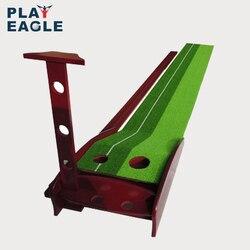 Установка тренера для гольфа из твердой древесины 30x300см, профессиональная тренировочная установка для мини-гольфа зеленого цвета с фарват...