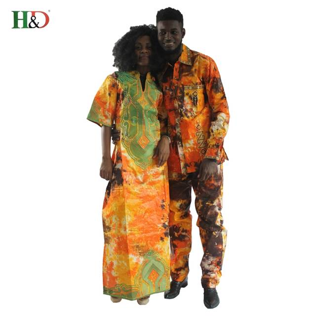 ffdfc6245 placeholder H   D 2018 vestidos de roupas Africano tradicional para os  casais para homens e mulheres