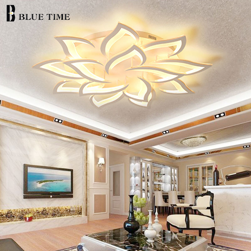 White Finished Modern LED Ceiling Lights For Living Room Bedroom 30W 60W 108W Fashion LedModern Home
