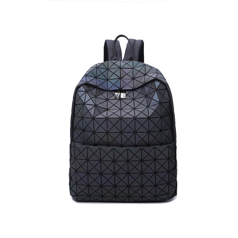 Women's Luminous Backpack Geometric Shoulder Bag Student's School Bag Hologram Backpack Mochila Holograficas