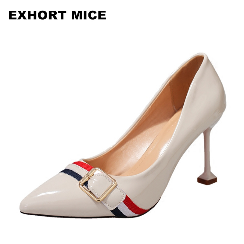 2018 Women Shoes Pointed Toe Pumps Dress Shoes High Heels Boat Shoes Wedding Shoes tenis ...