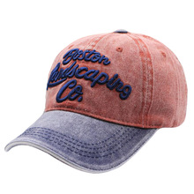 High Quality Washed Denim Baseball Cap Men Women Two Tones Snapback Bone Casquette Casual Cotton Embroidery Fitted Hat
